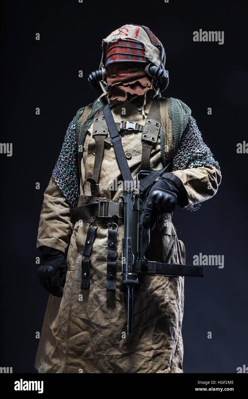 survivor in tatters - Stock Image