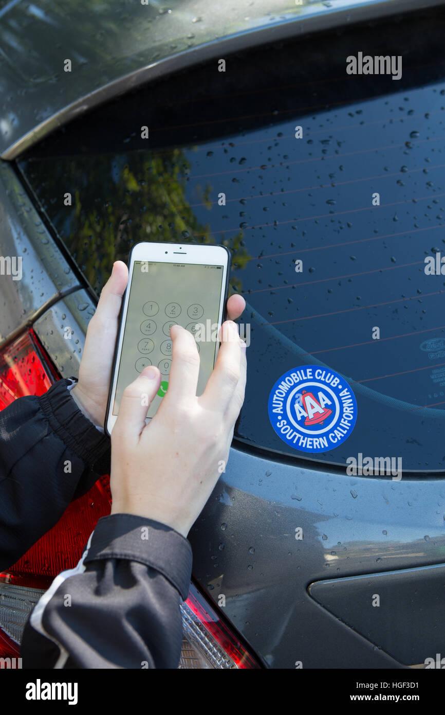 Aaa Roadside Assistance Stock Photos & Aaa Roadside