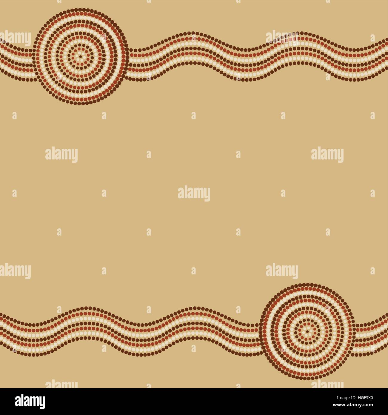 Australian Aboriginal Art Background In Vector Format