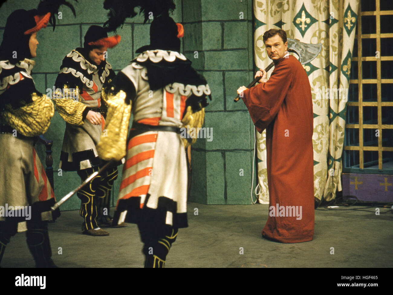 Eddie Albert in the 1955 production of A Connecticut Yankee in King Arthur's Court by Max Liebman. - Stock Image