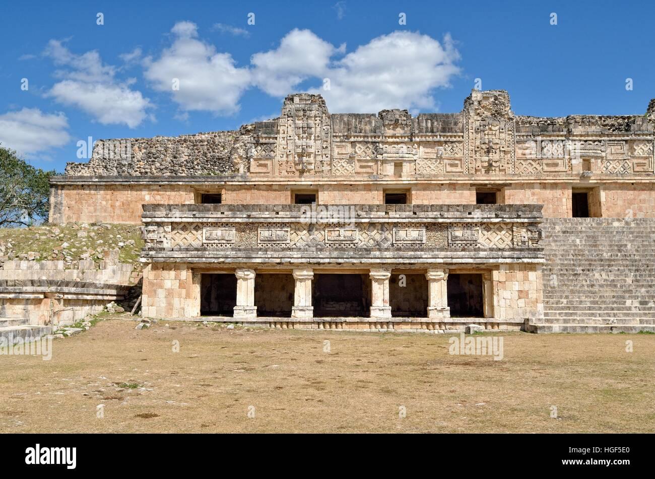 Cuadrangulo de las Monjas, Nun's Quadrangle, ancient Mayan city of Uxmal, Yucatan, Mexico - Stock Image