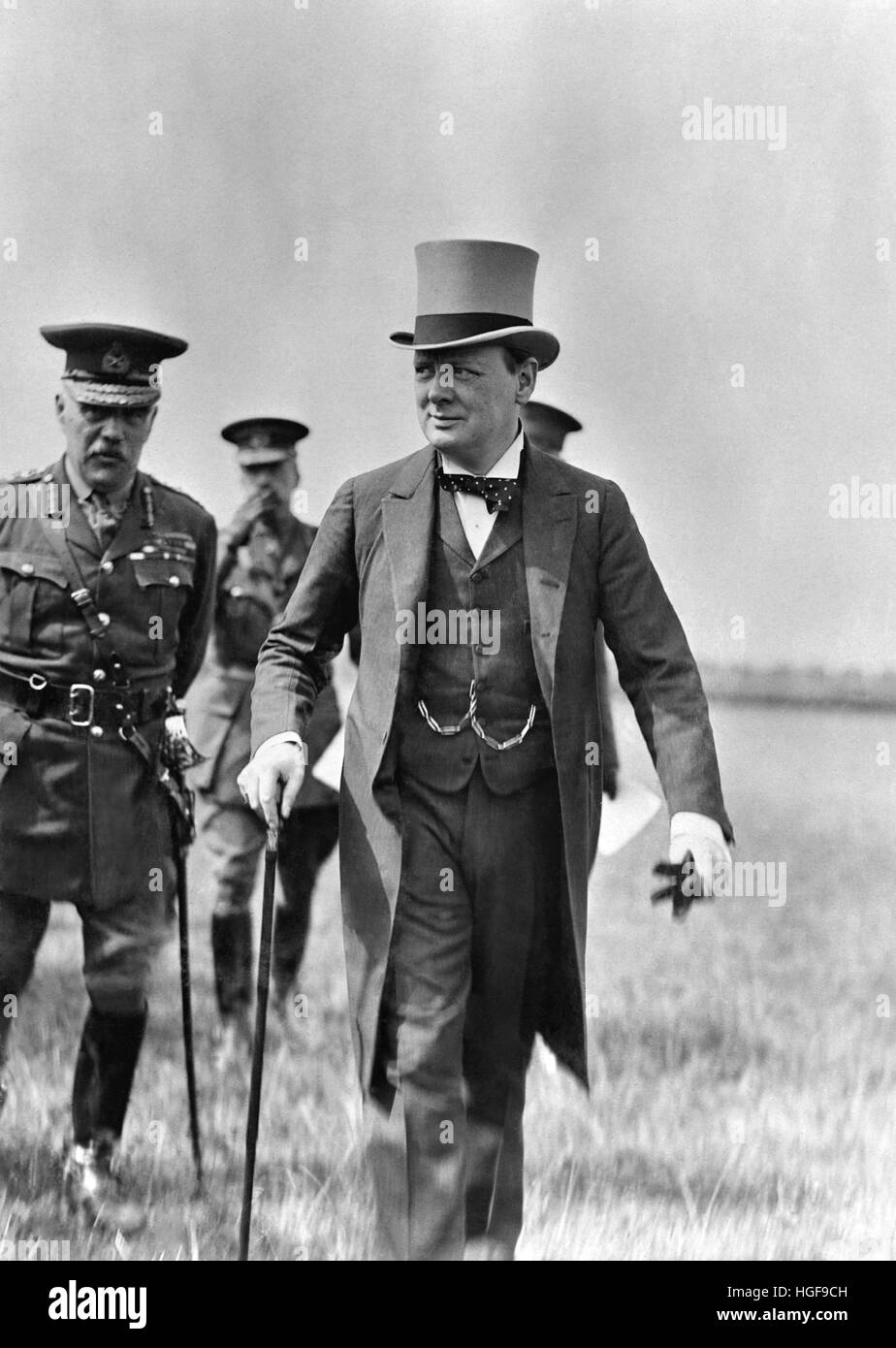 Winston Churchill inspects British Army of Occupation. Cologne 1919 Stock Photo