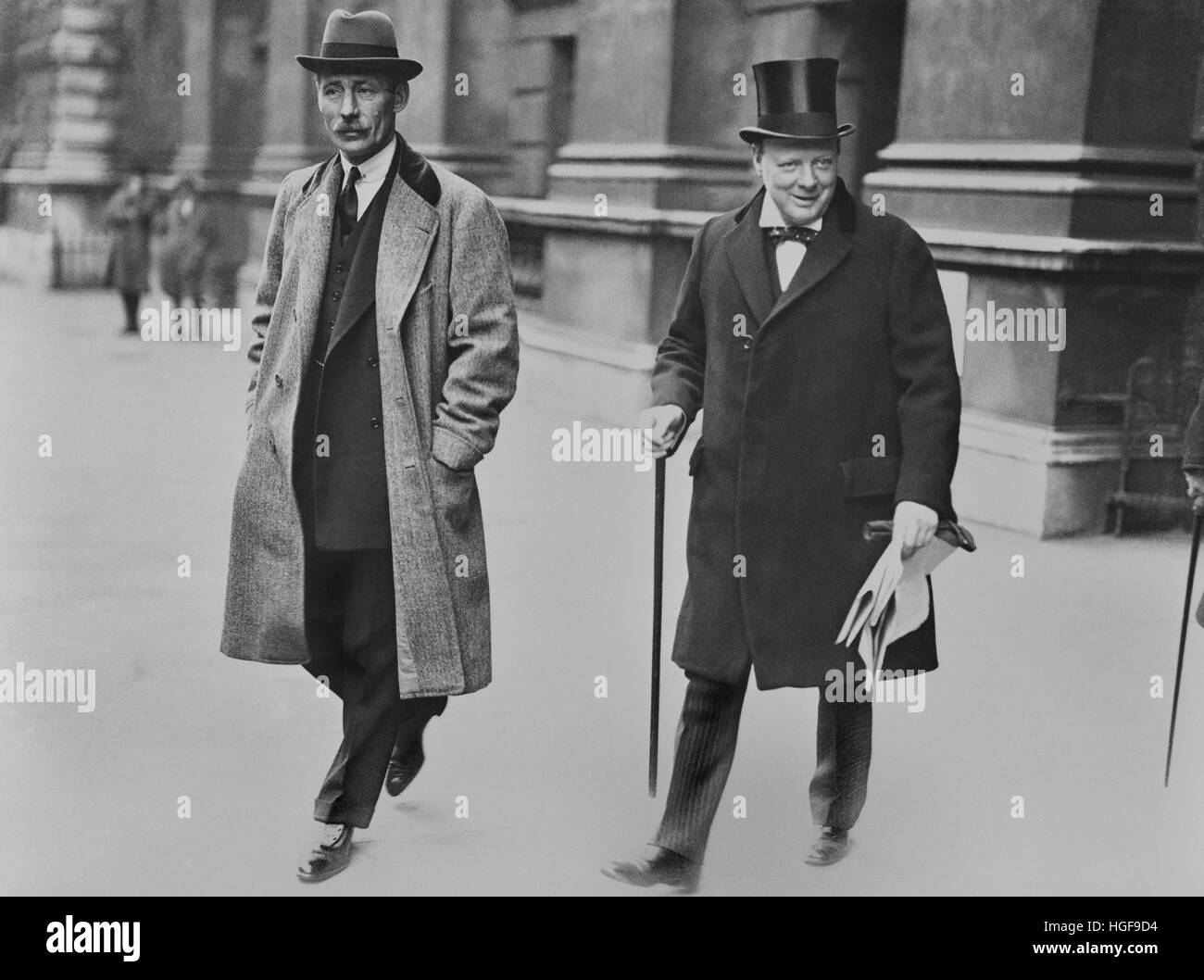 Winston Churchill as Chancellor of the Exchequer. 1924 - Stock Image