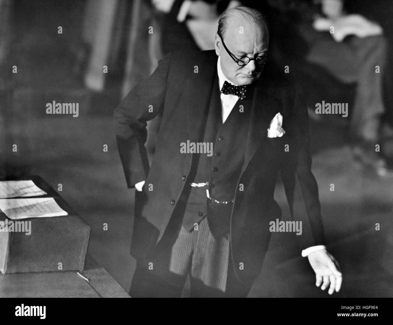 Churchill addressing Parliament in the House of Commons, Ottawa,Canada.  Dec 30th. 1941 - Stock Image