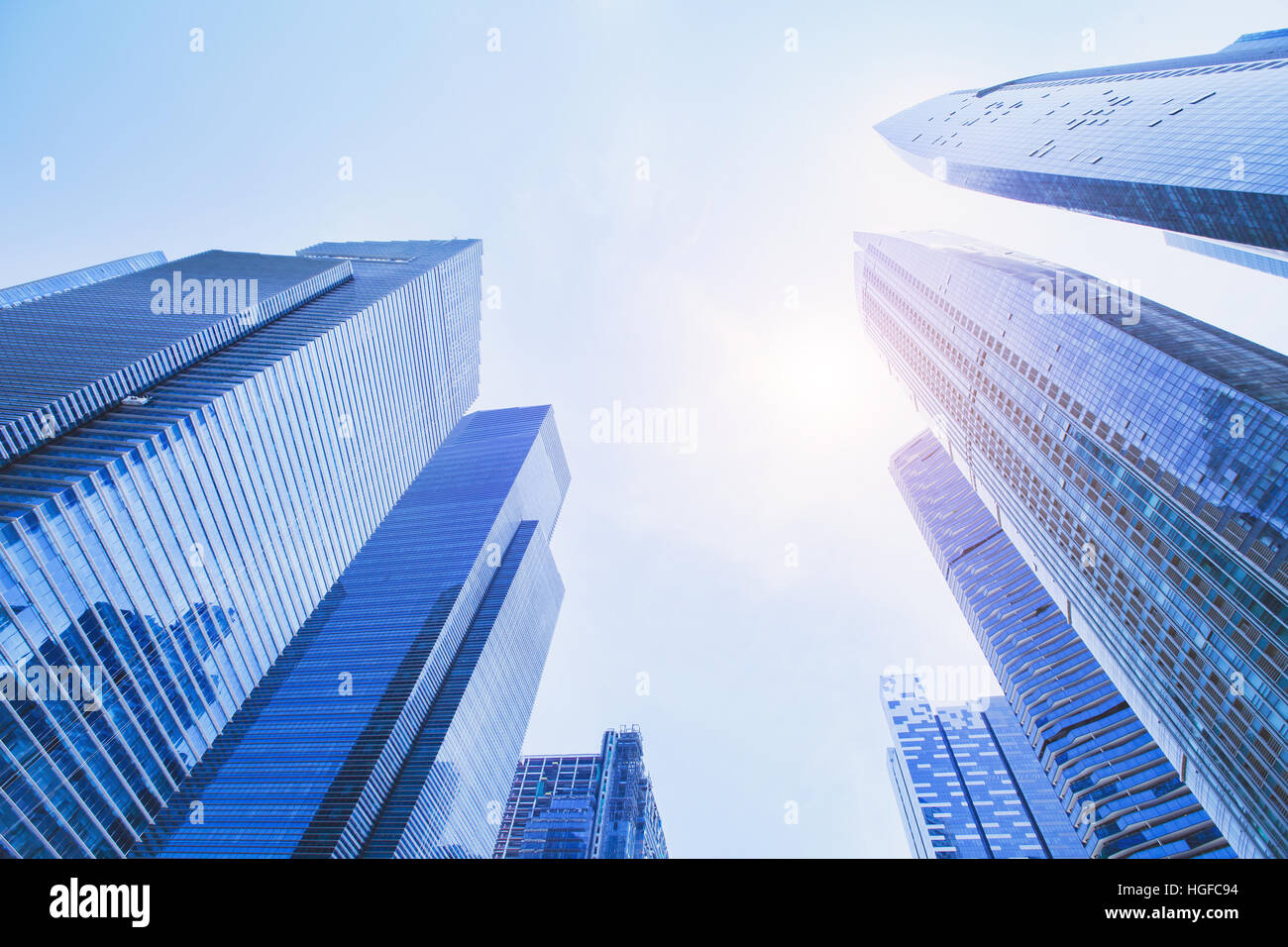 Futuristic High Tech Background Perspective Of Business Office Stock Photo Alamy