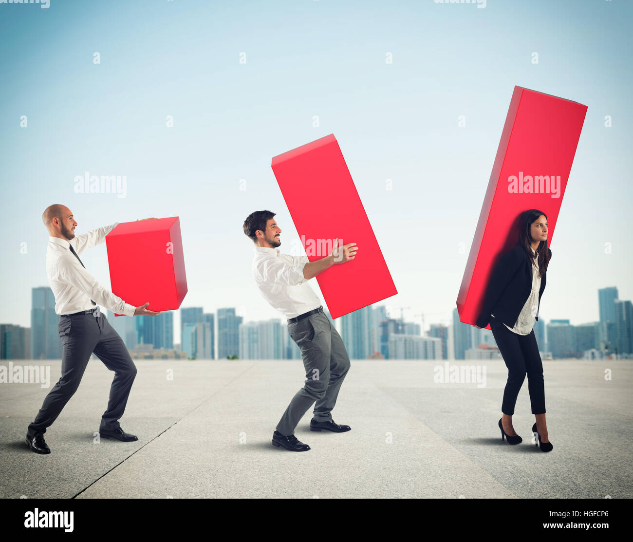 Business team supports company - Stock Image