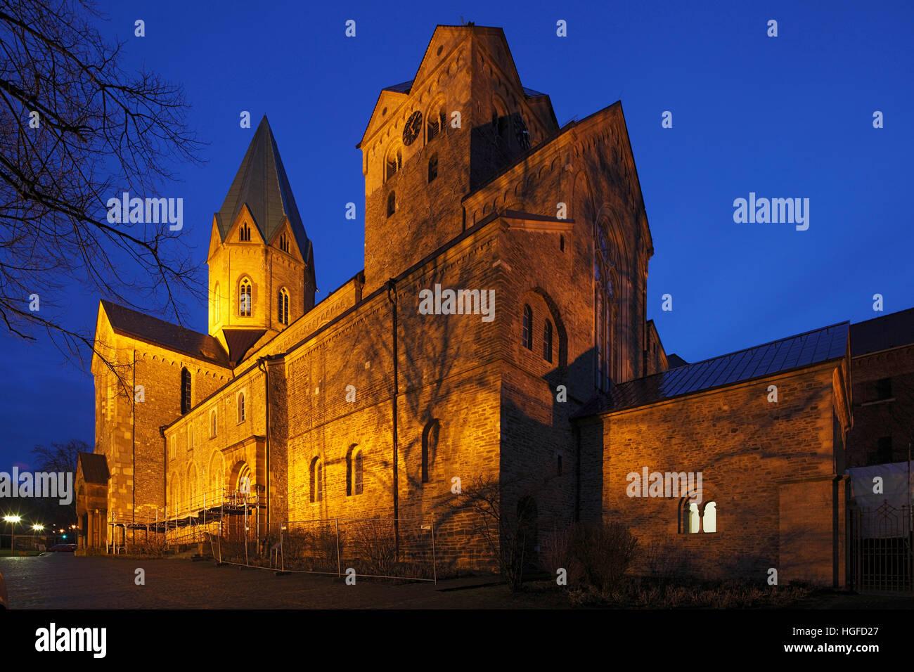 Ludgerus, basilica Essen-Werden in North Rhine-Westphalia - Stock Image
