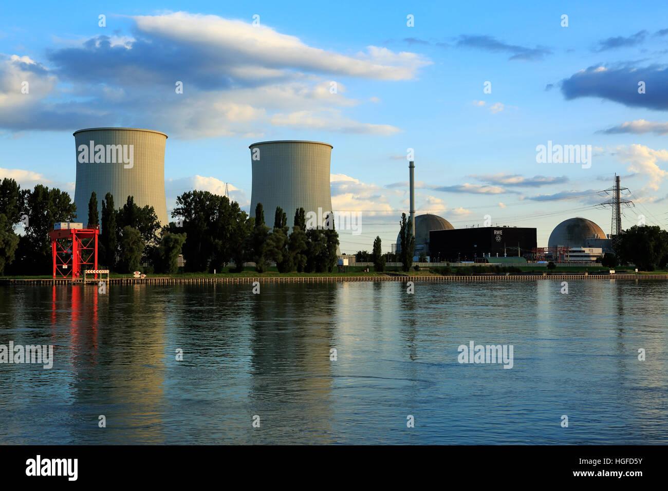 Nuclear power plant Biblis, Bergstrasse, Hessen - Stock Image