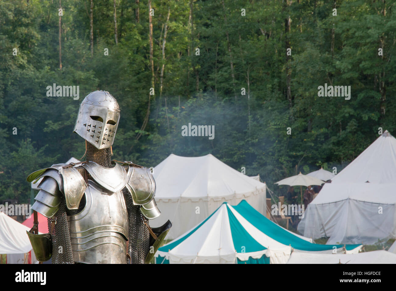 Knight of the Middle Ages - Stock Image
