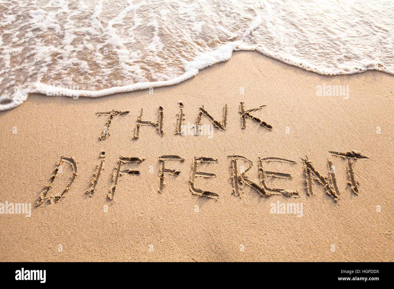 think different concept - Stock Image