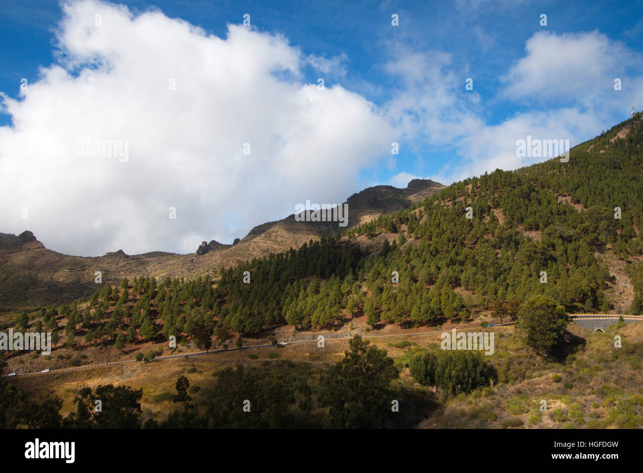 Mountain road near Santiago del Teide - Stock Image
