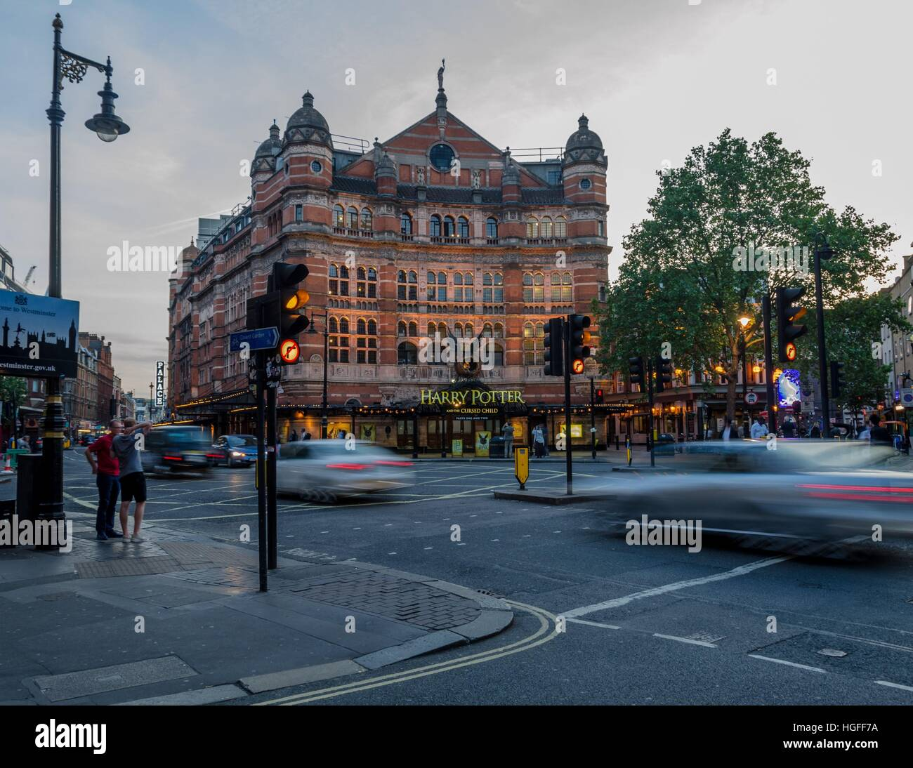 The Palace Theatre, Shaftesbury Avenue, London - Stock Image