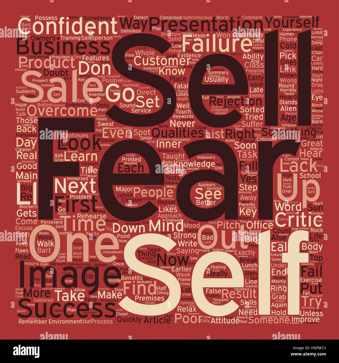 Why We Fear To Sell And How You Can Overcome It text background wordcloud concept - Stock Vector