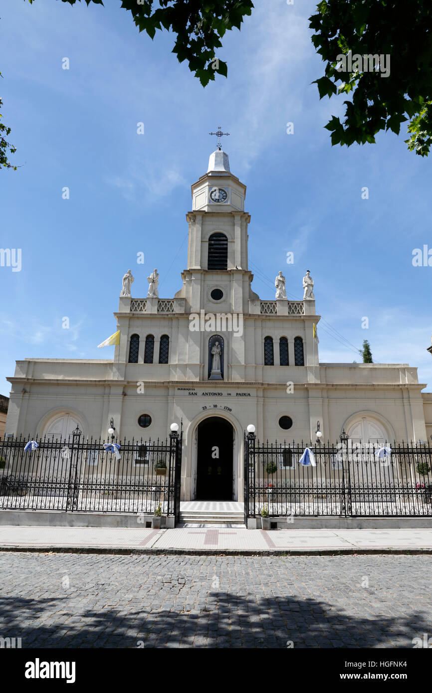 Parroquia church of San Antonio de Padua, San Antonio de Areco, La Pampa, Argentina - Stock Image