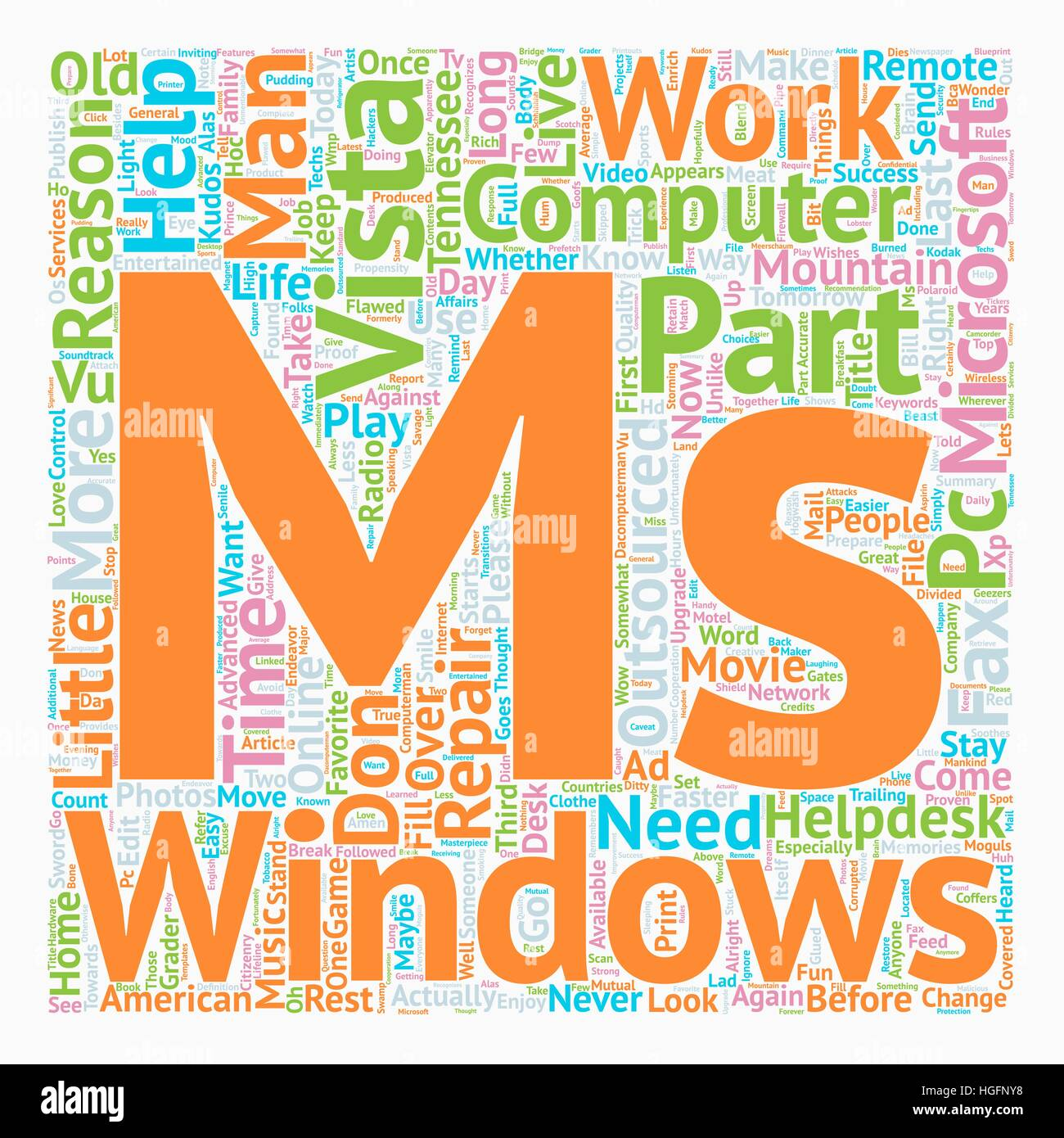 Why Change To Windows Vista Part 3 of 4 text background wordcloud concept - Stock Vector
