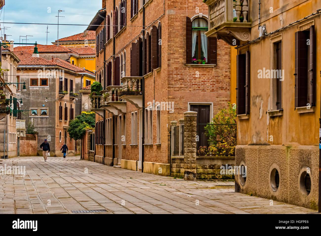 Italy Veneto Venice St. Elena Island - Stock Image