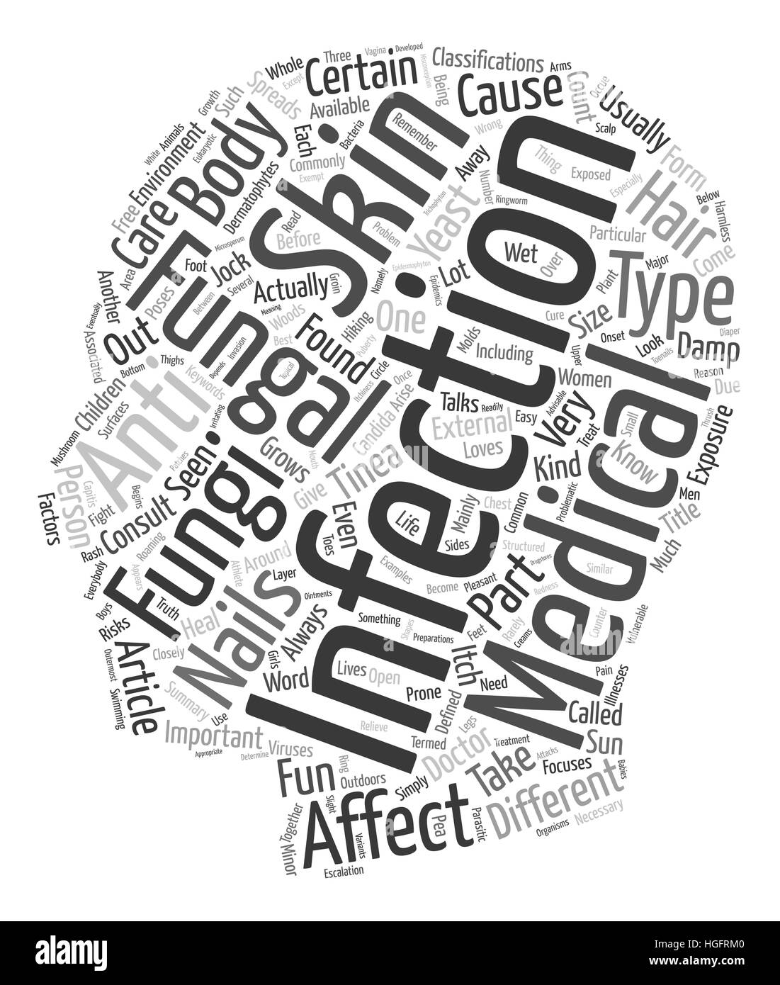 When Fungi takes the Fun Away text background wordcloud concept - Stock Vector