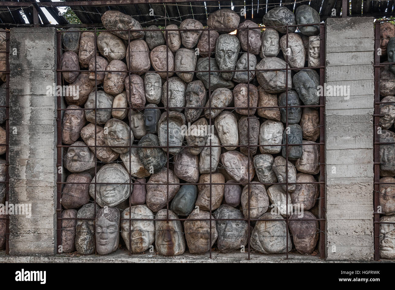 monument tortured in the USSR - Stock Image