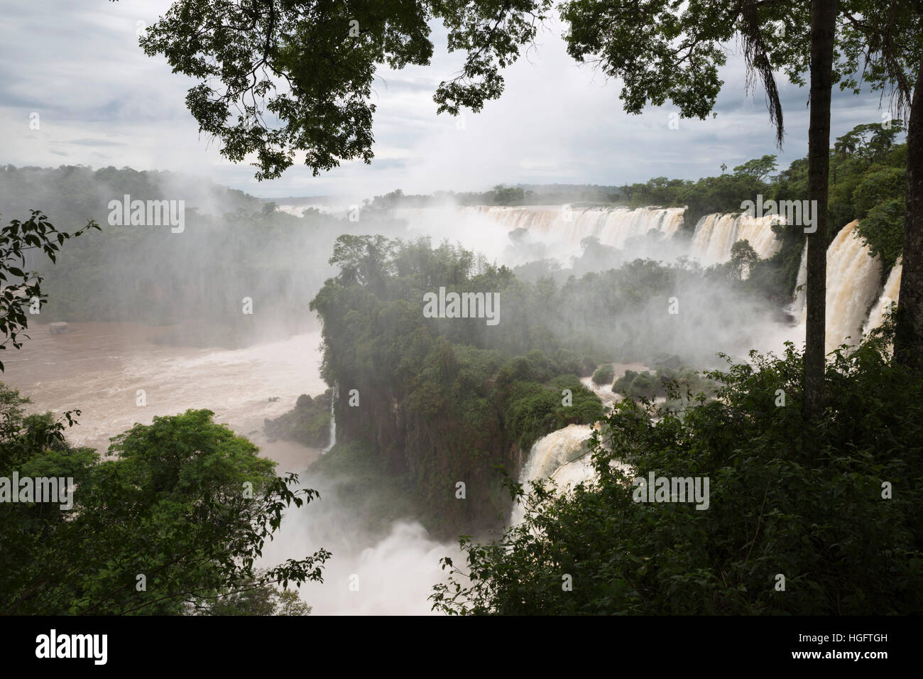 Iguazu Falls, Iguazu National Park, Misiones Province, The Northeast, Argentina, South America - Stock Image