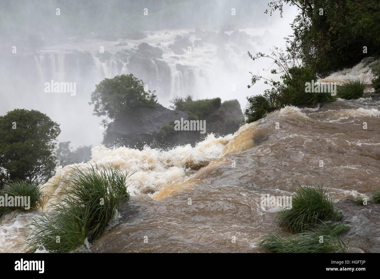 Iguazu Falls, Iguazu National Park, Misiones Province, The Northeast, Argentina, South America - Stock Image