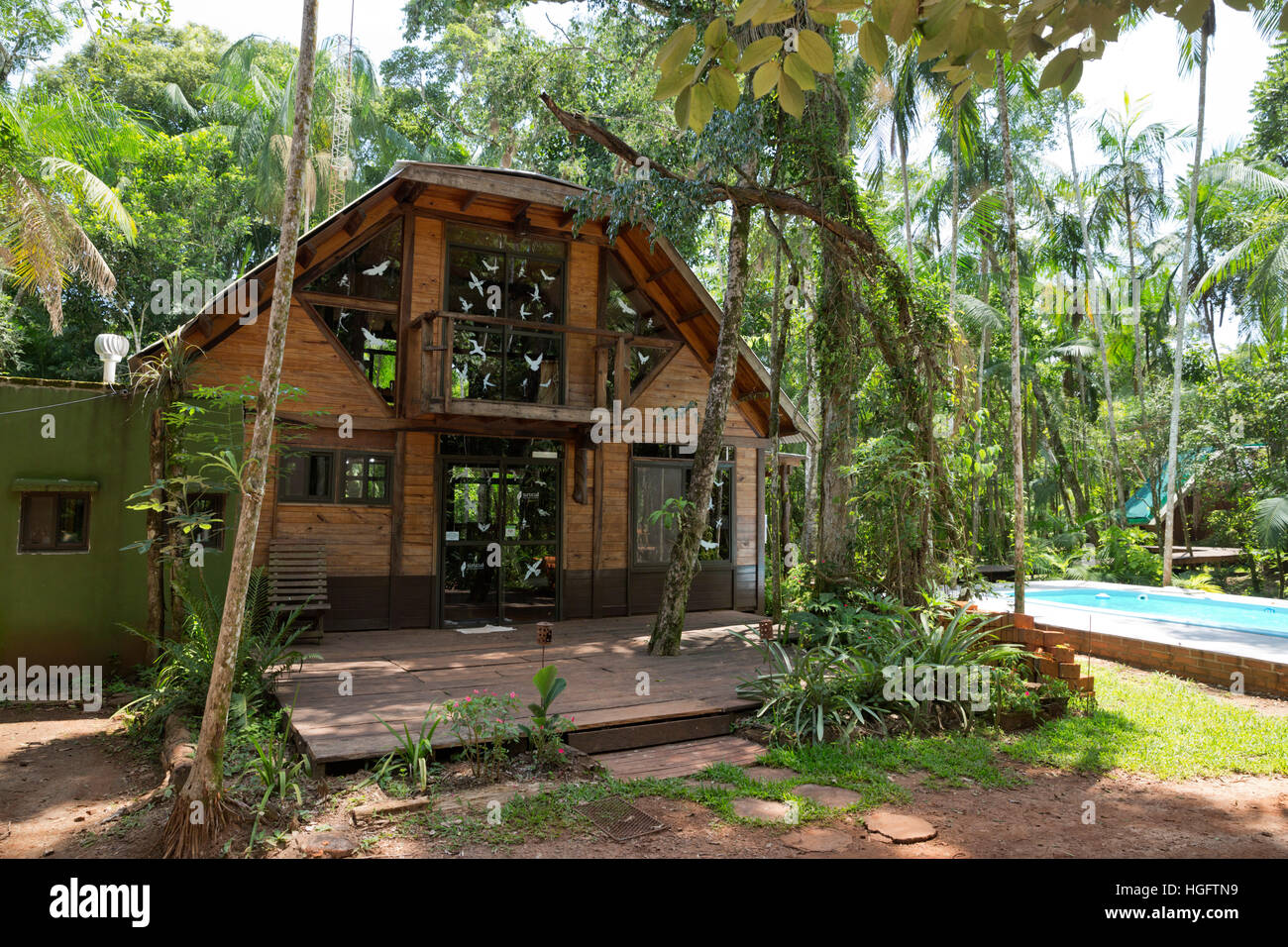 Surucua Reserva and Ecolodge in the rainforest, Andresito, Misiones Province, Argentina, South America - Stock Image