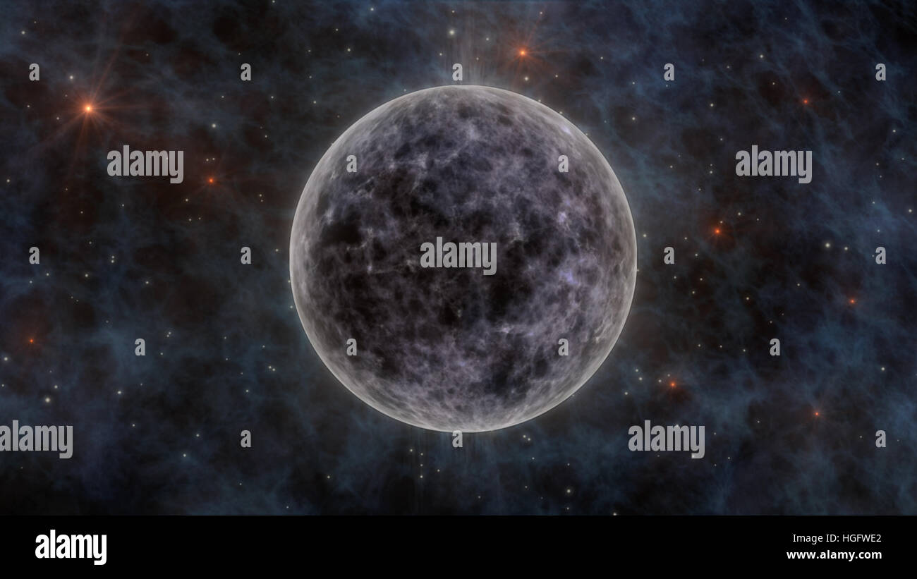 The Moon And Planets In Space 3D Rendering
