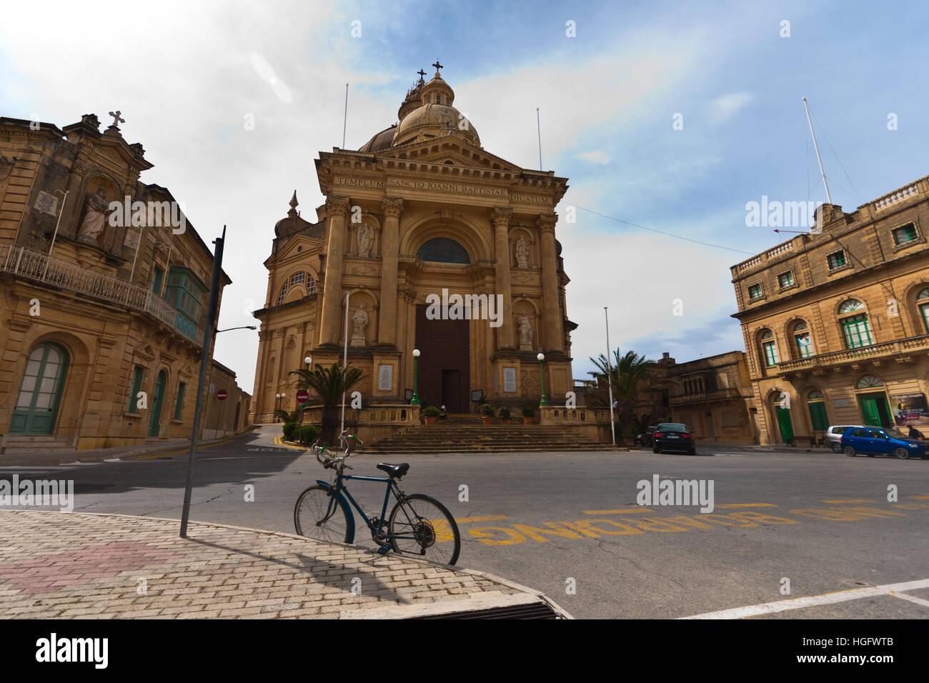 Saint John the Baptist church, Xewkija, Gozo, Malta - Stock Image