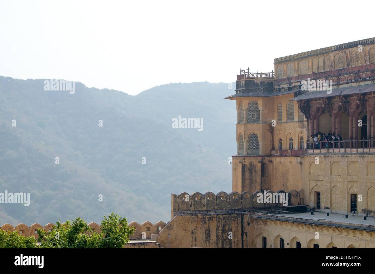 Istorical construction Amber's fort architectur, historical,a construction,amber,india,jaipur,architecture,building - Stock Image