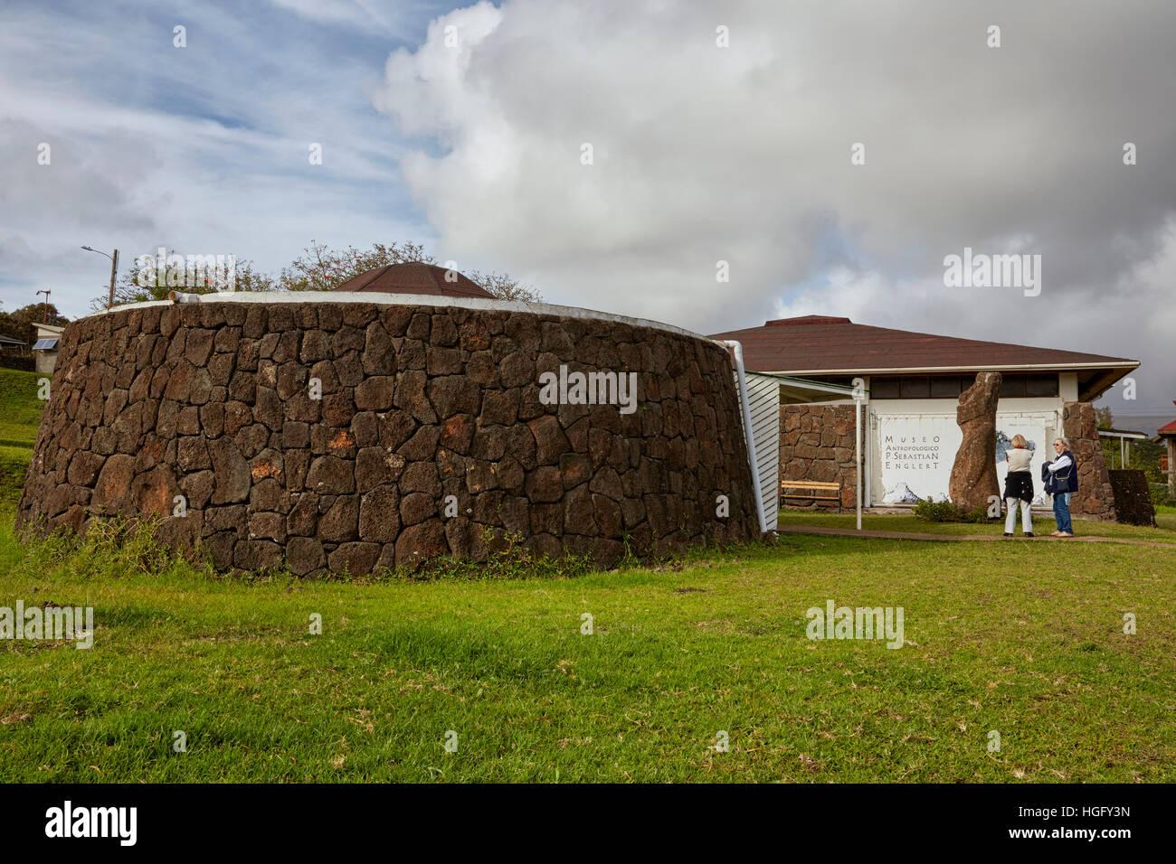 Anthropological museum, Museo Antropologico Padre Sebastian Englert, Easter Island - Stock Image