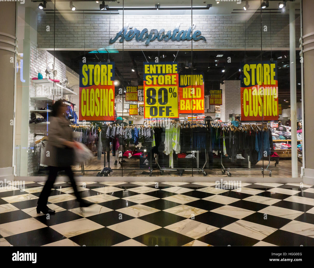 The Aéropostale store in the Manhattan Mall in New York