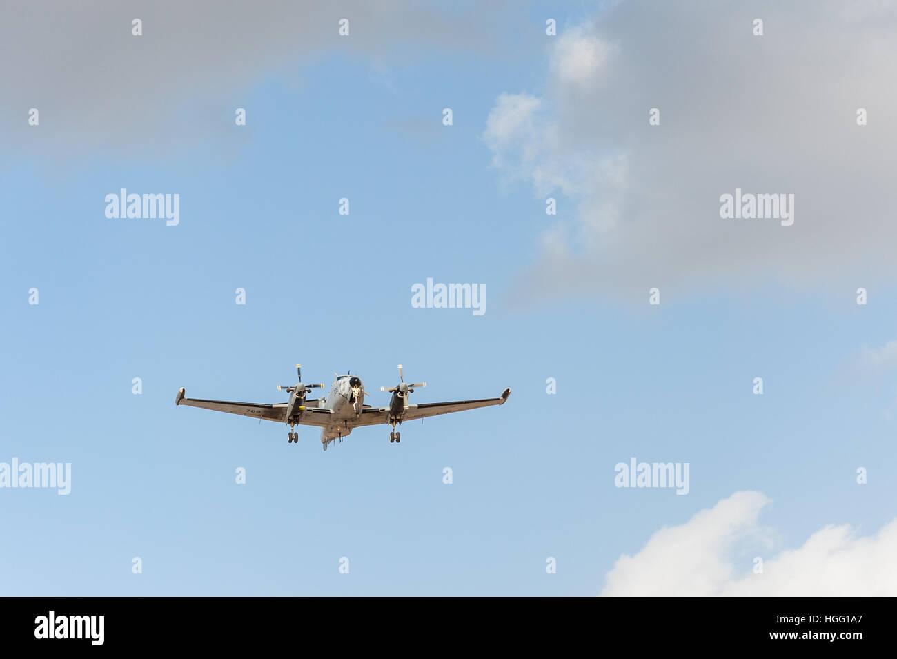 Israel, Tel Aviv-Yafo, Beechcraft super king air - Stock Image