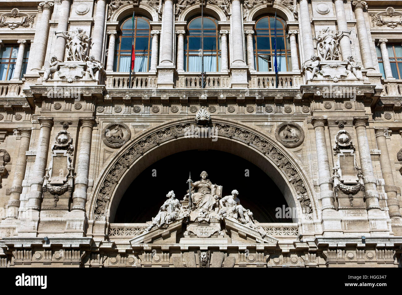 Italian Supreme Court of Cassation (Corte di Cassazione), Palace of Justice, Courthouse. Renaissance, baroque style. - Stock Image