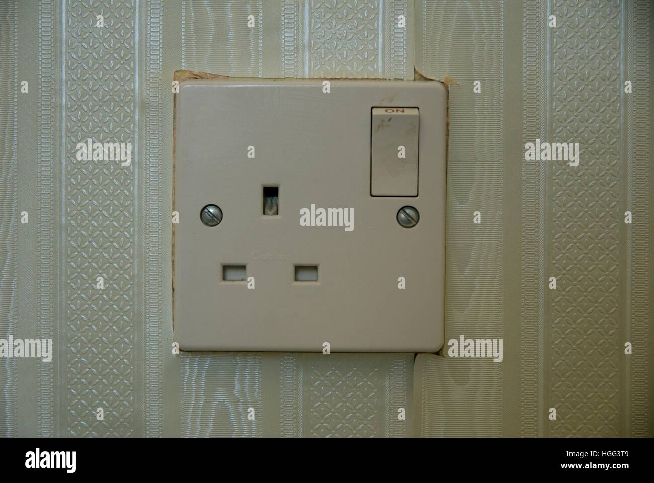 Circuit Breaker Domestic Stock Photos Fuse Box Rcd Together With Safety Switch A British Three Prong Plug Socket Image