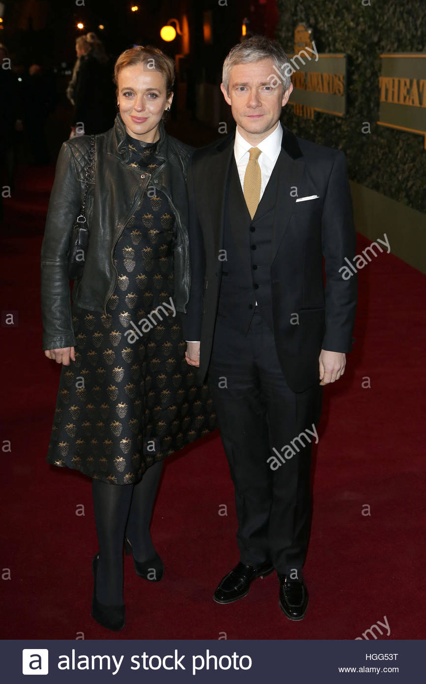 """File photo dated 22/11/15 of Amanda Abbington and Martin Freeman, as he has said they are """"very friendly"""" - Stock Image"""