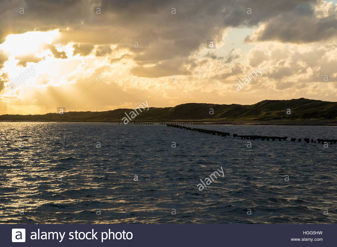 former ostanleger, wangerooge, friesland district, lower saxony, north sea, germany, june 2016 Stock Photo