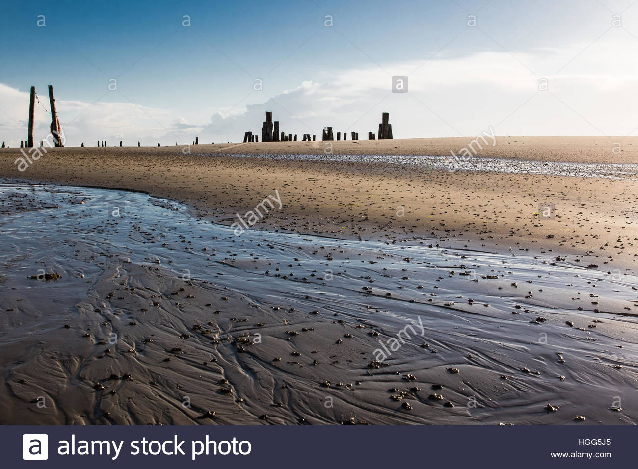 former ostanleger, wangerooge, friesland district, lower saxony, north sea, germany, june 2016 - Stock Image