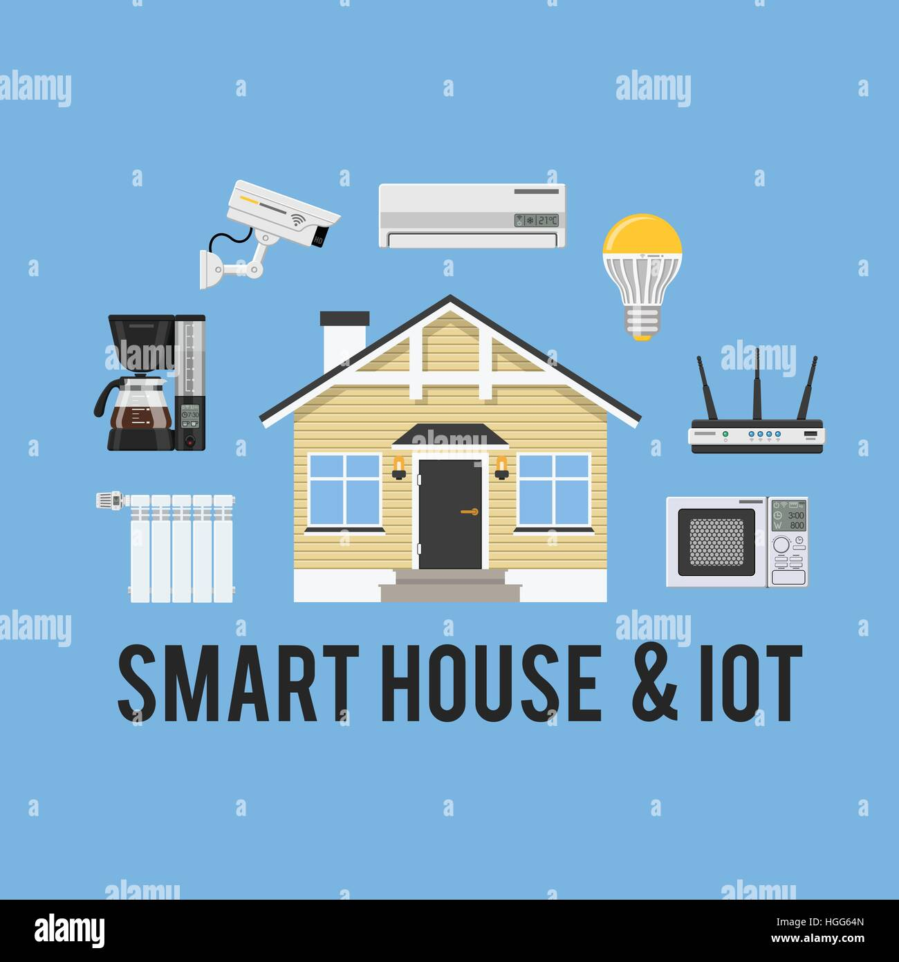 Smart House and internet of things concept - Stock Image