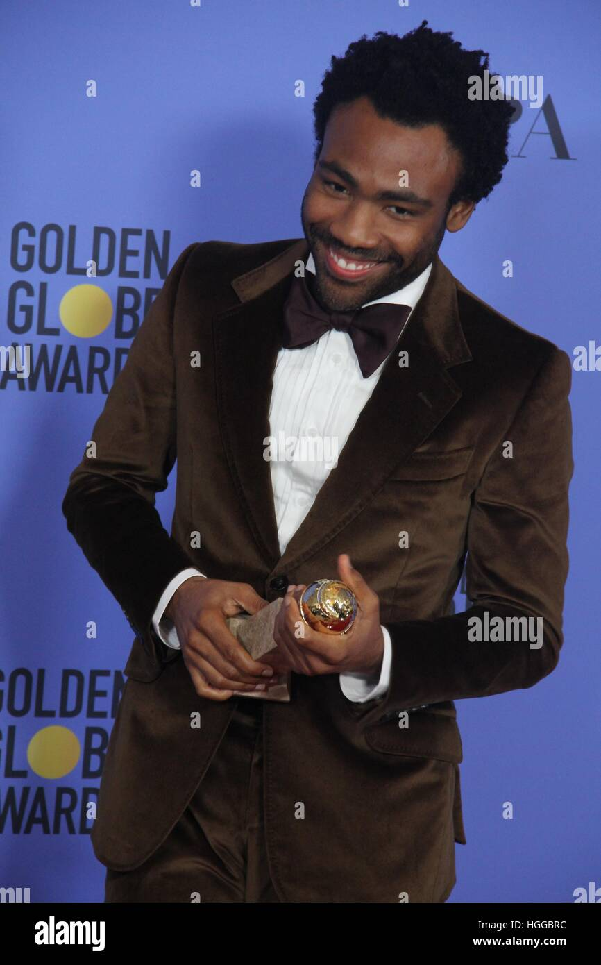 Hollywood, California, USA. 9th Jan, 2017. 74th Annual Golden Awards - Press Room .The Beverly Hilton Hotel, Beverly - Stock Image