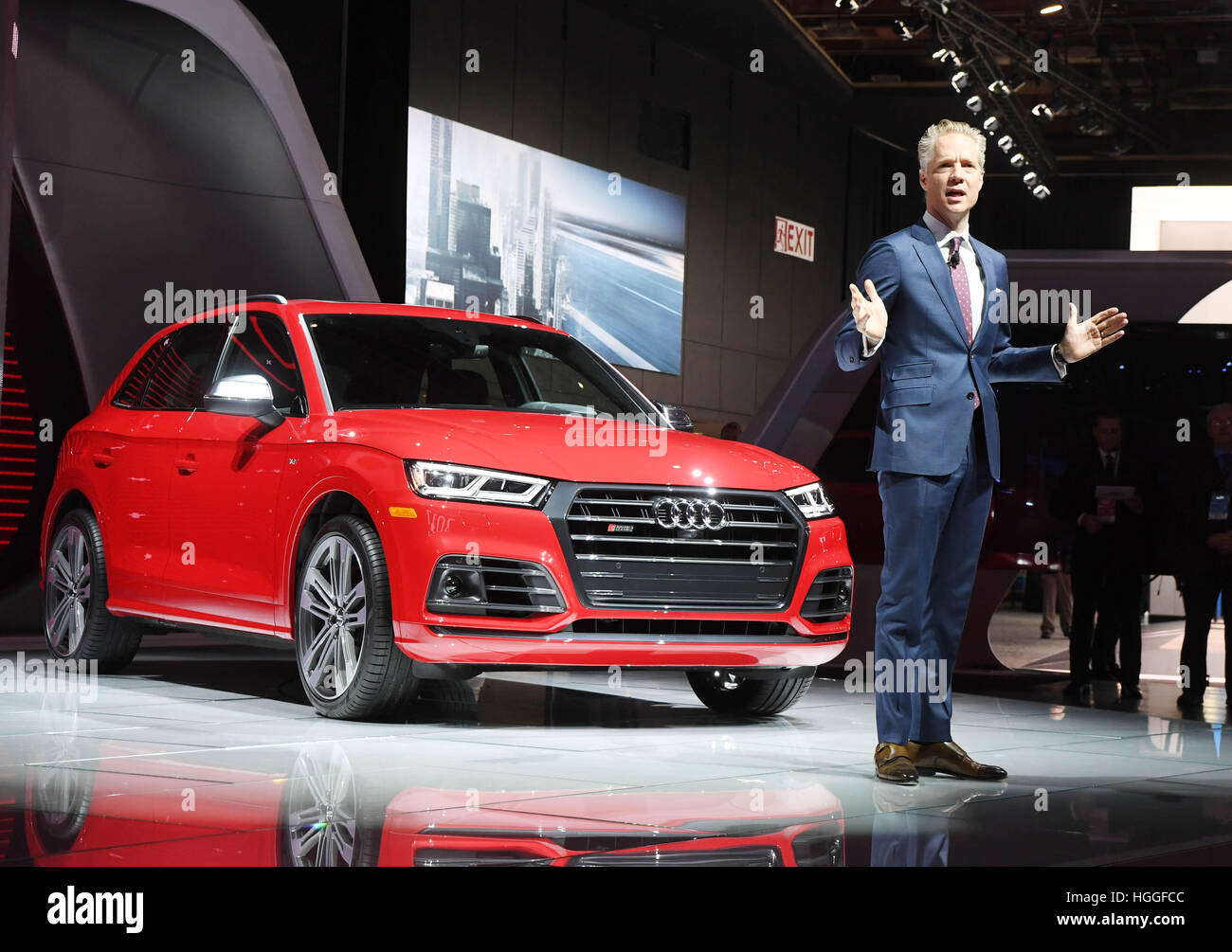 Detroit Us 9th Jan 2017 Scott Keogh President Of Audi Of Stock