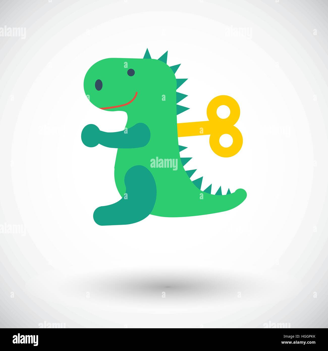 Dinosaurus toy icon. Flat vector related icon for web and mobile applications. It can be used as - logo, pictogram, Stock Vector
