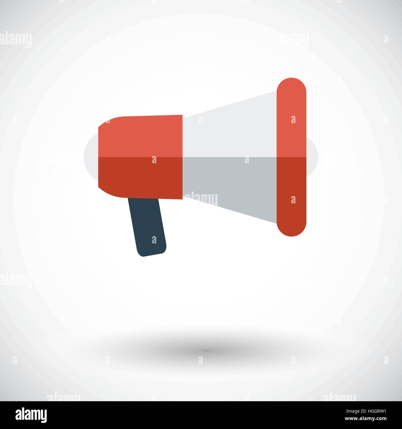 Megaphone. Single flat icon on white background. Vector illustration. - Stock Vector