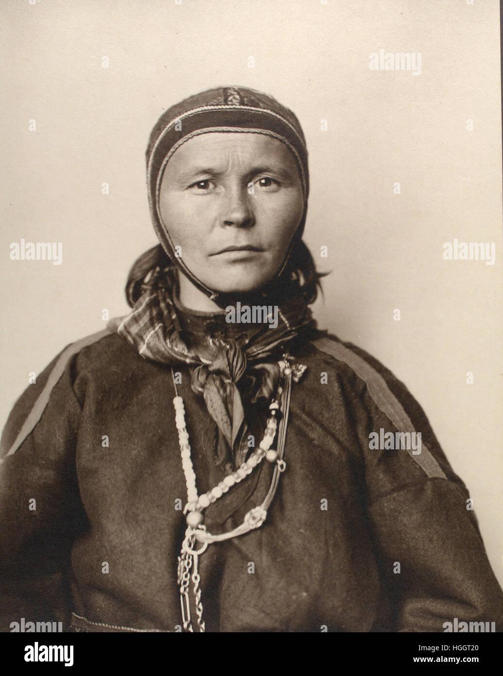 Portrait of Laplander - Ellis Island Immigration Station 1902-1913 - Photo : Augustus Sherman - Stock Image