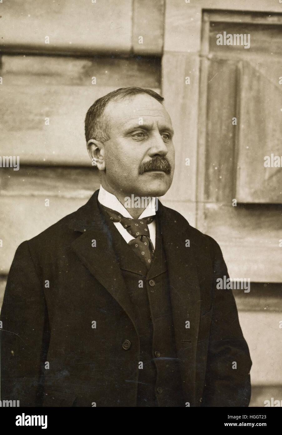 Portrait photograph of William Williams, Commissioner of Immigration at Ellis Island  - Ellis Island Immigration - Stock Image