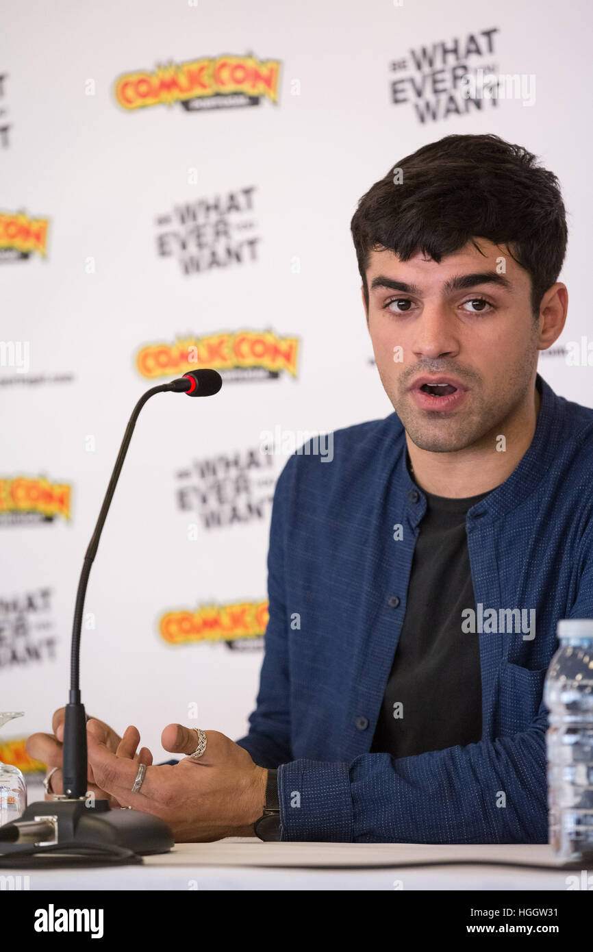 Sean Teale attends a press conference at Comic Con Portugal 2016 - Day 2  Featuring: Sean Teale Where: Porto, Portugal - Stock Image