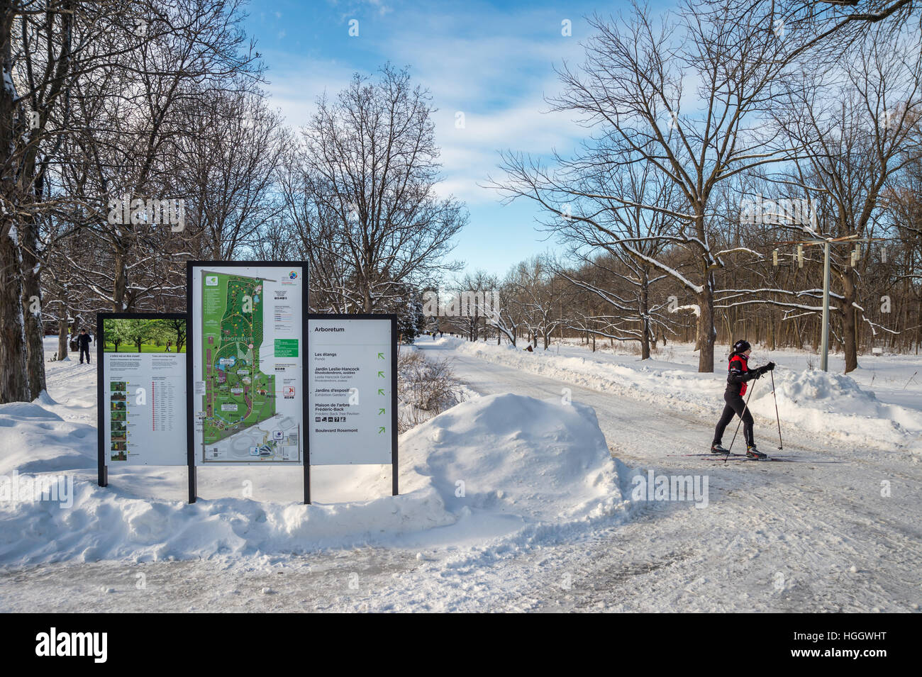 Montreal Ca 5 January 2017 Snowy Landscape And Map Of The