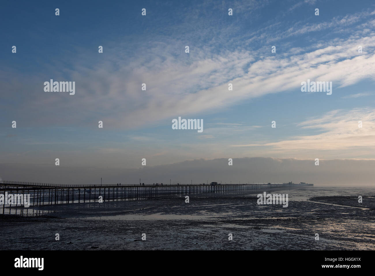 Southend Pier, Southend on Sea, Essex, England UK. 8 January 2017 Southend is a typical British seaside town - Stock Image