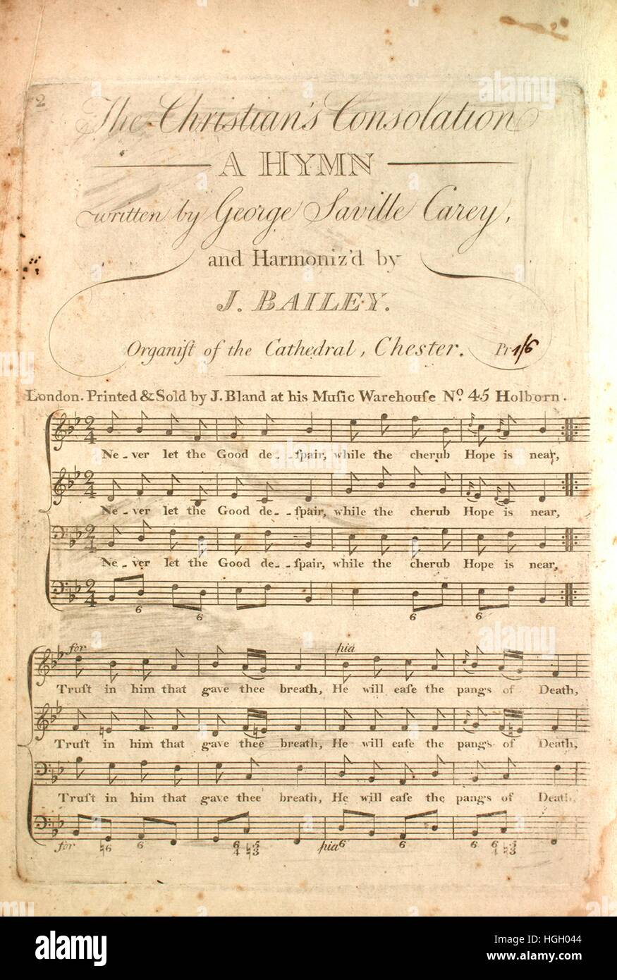 Sheet music cover image of the song 'The Christian's Consolation A