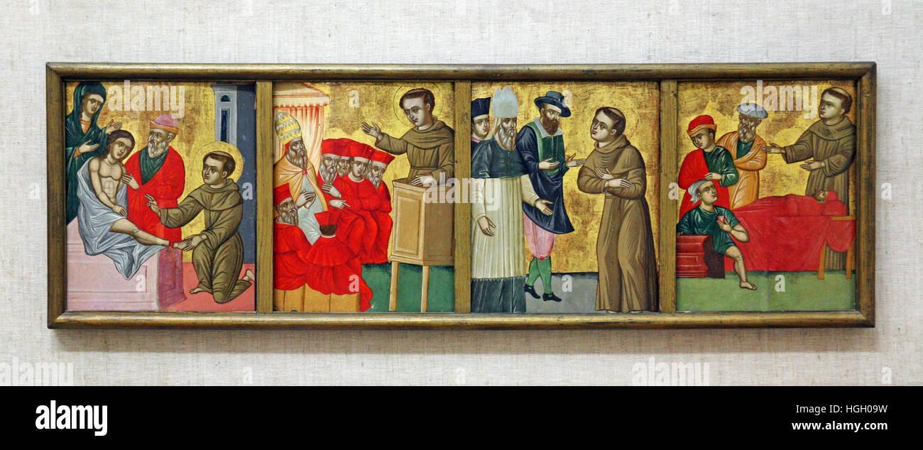Miracles of St.Antony,Franjo Matijin,Dubrovnik,Franciscan monastery museum,Croatia,Europe - Stock Image
