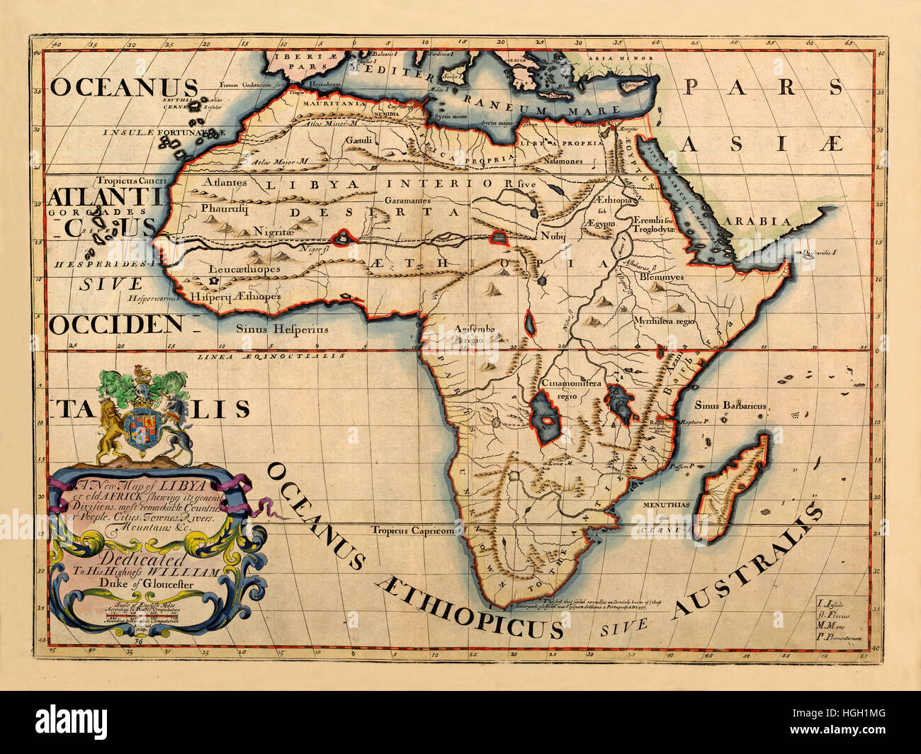 Map Of Africa In 1700 Map Of Africa 1700 Stock Photo   Alamy