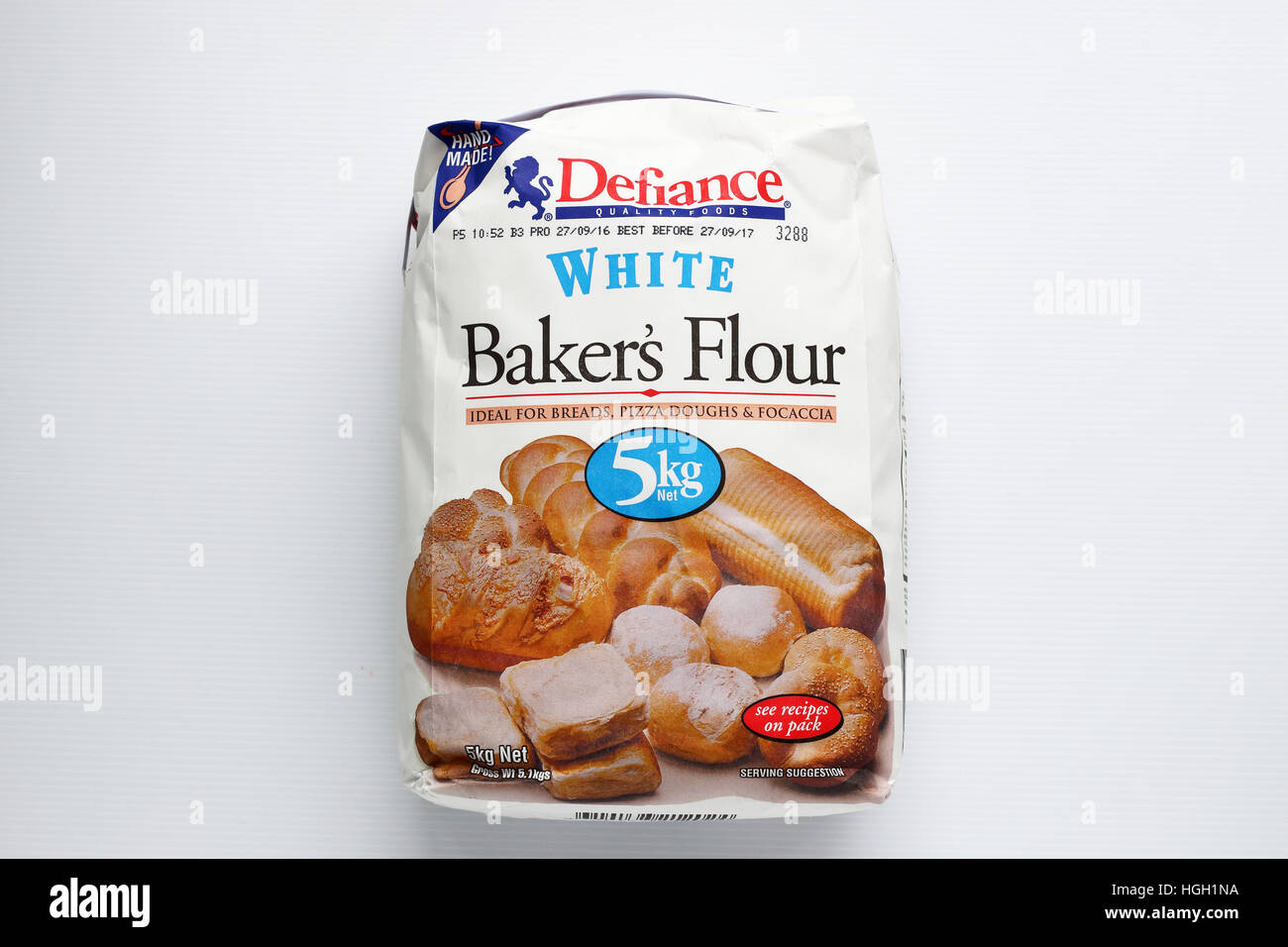 Coles Defiance White Baker Flour Isolated Against White Background Stock Photo Alamy